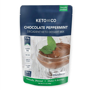 Chocolate Peppermint Decadent Keto Dessert Mix - NutraVolts