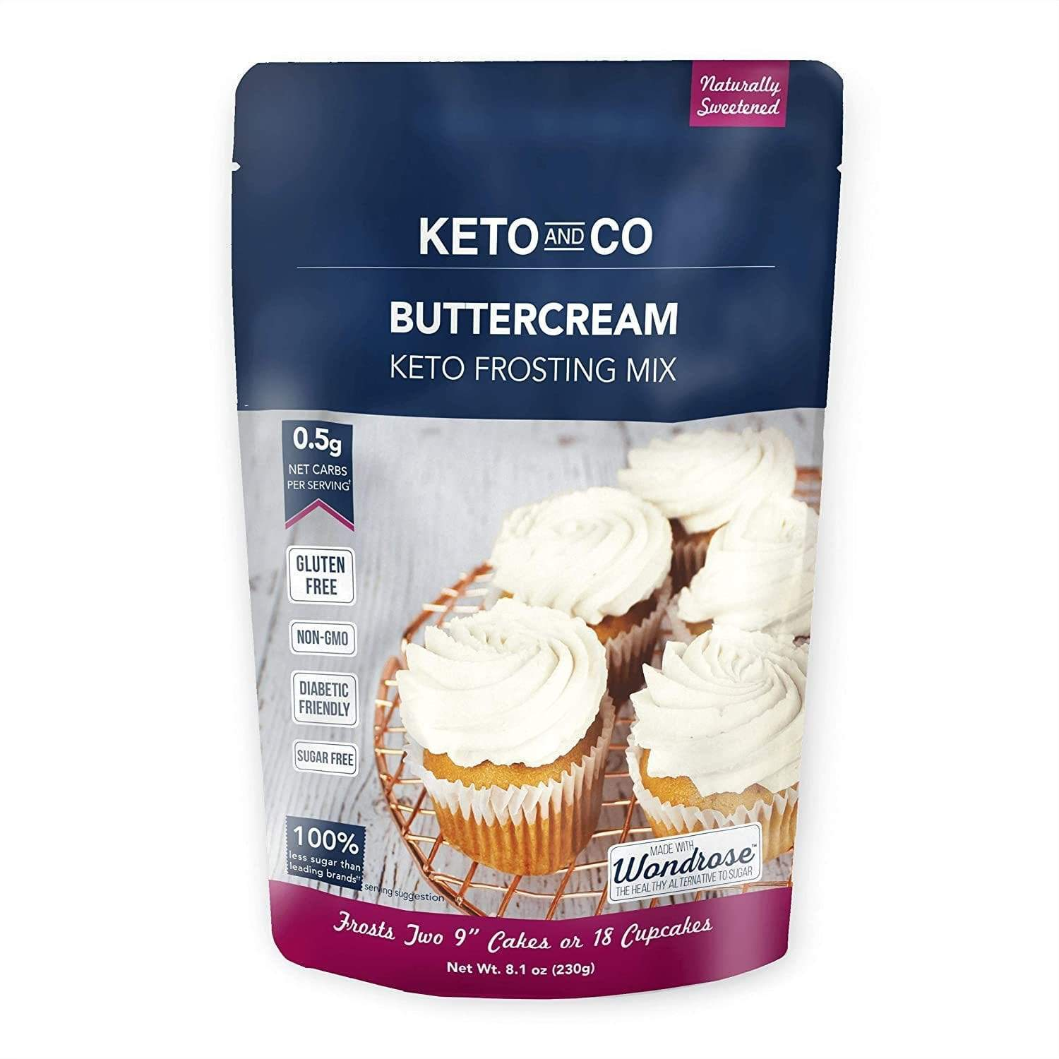 Buttercream Keto Frosting Mix - NutraVolts