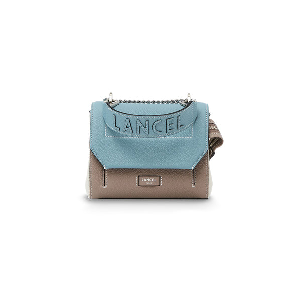 NINON FLAP BAG SMALL CLOUD BLUE / LINEN / SNOW