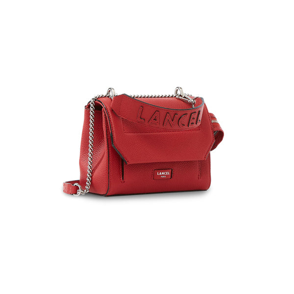 NINON FLAP BAG SMALL RED LANCEL