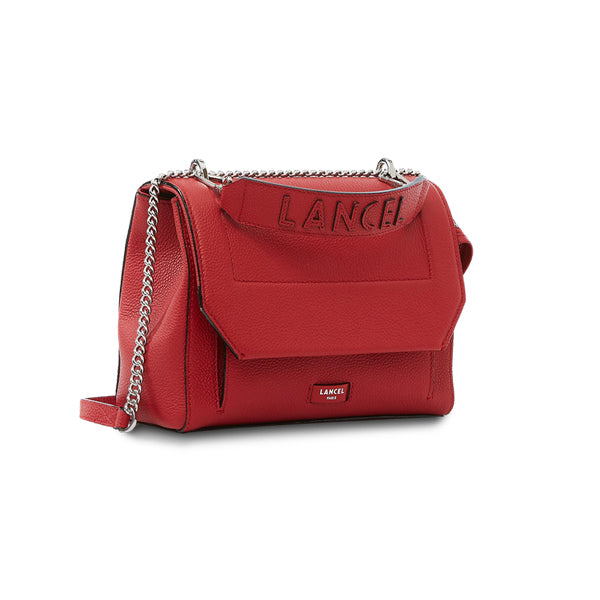 NINON FLAP BAG MEDIUM RED LANCEL