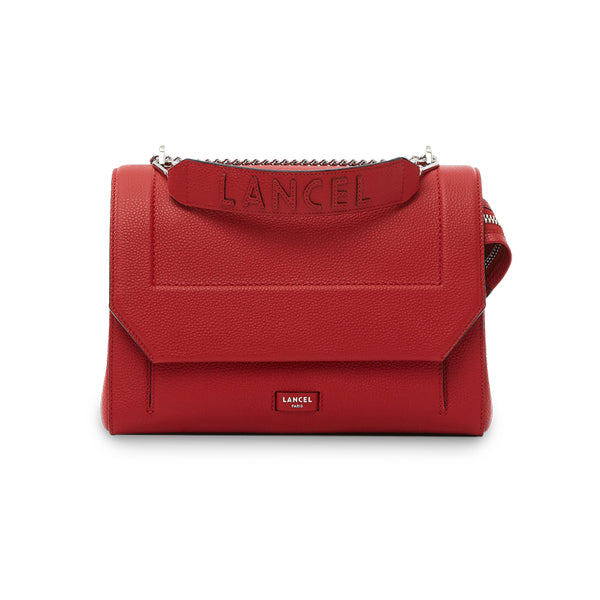 NINON FLAP BAG LARGE RED LANCEL