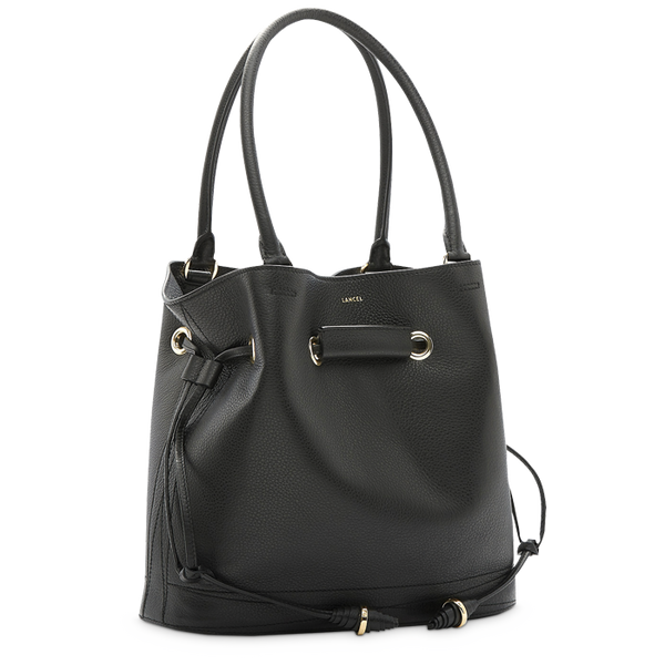 LE HUIT BUCKET TOTE BAG MEDIUM BLACK