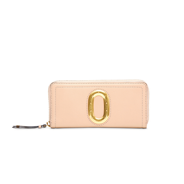 ROMANE SLIM ZIP WALLET NUDE