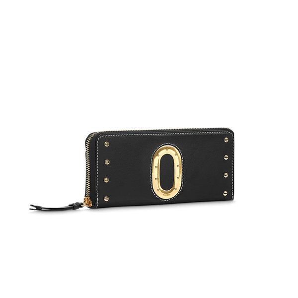 ROMANE SLIM ZIP WALLET BLACK/SNOW
