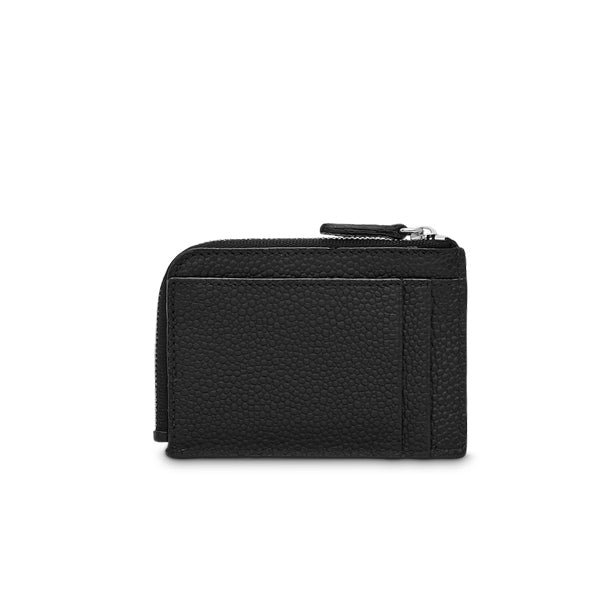 NINON ZIPPED CARD HOLDER BLACK