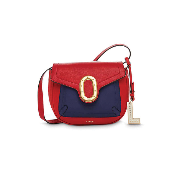ROMANE SADDLE BAG XS MULTICO RED LANCEL