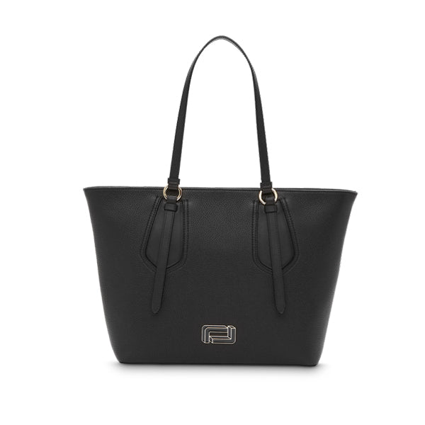 OPERA ZIPPED TOTE MEDIUM BLACK