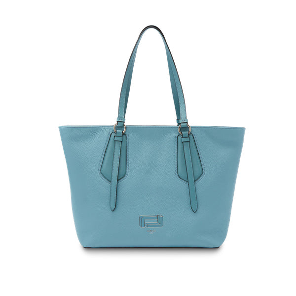 OPERA ZIPPED TOTE MEDIUM CLOUD BLUE