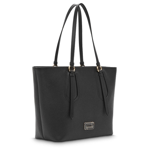 OPERA ZIPPED TOTE LARGE BLACK