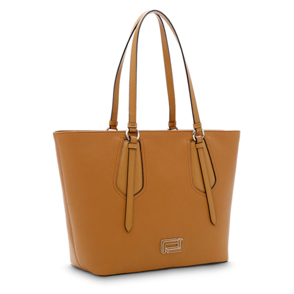 OPERA ZIPPED TOTE LARGE CAMEL