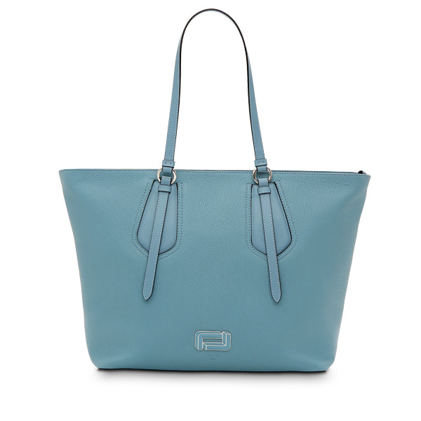OPERA ZIPPED TOTE LARGE CLOUD BLUE