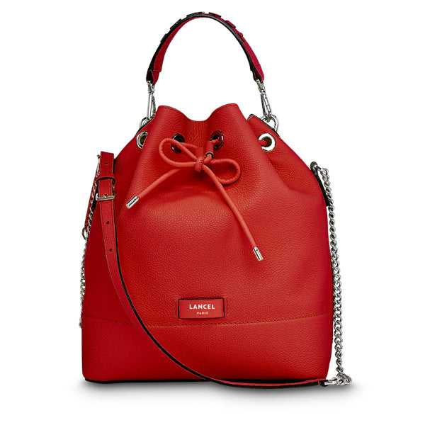 NINON BUCKET BAG MEDIUM RED LANCEL