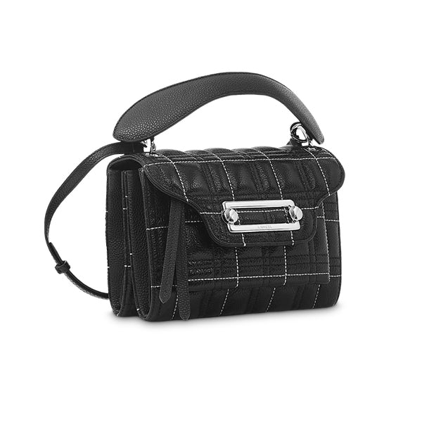 CLIC CROSSBODY MEDIUM BLACK / CREAM STITCHINGS