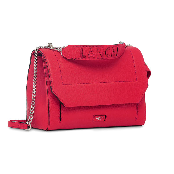 NINON FLAP BAG LARGE RASPBERRY