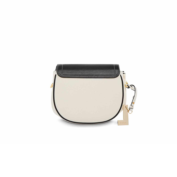ROMANE SADDLE BAG SMALL BLACK / SNOW