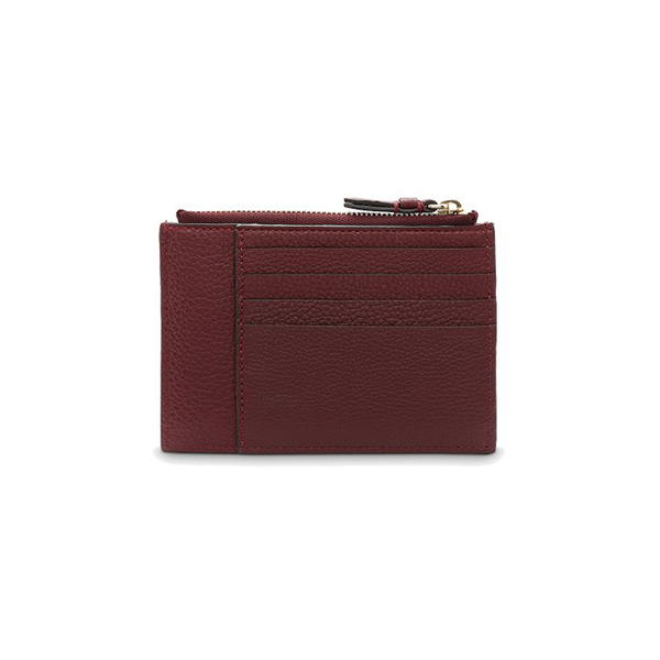 LETTRINES ZIPPED CARD HOLDER BLACKCURRANT