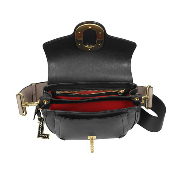 ROMANE SADDLE BAG MEDIUM BLACK