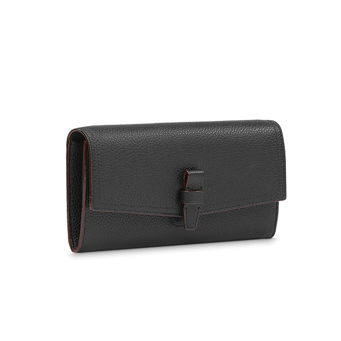 CHARLIE CHIC SLIM FLAP WALLET BLACK