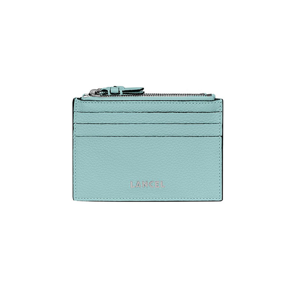 LETTRINES ZIPPED CARD HOLDER HORIZON BLUE