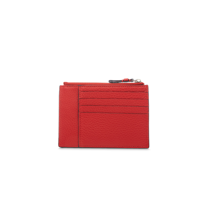 LETTRINES ZIPPED CARD HOLDER RED LANCEL