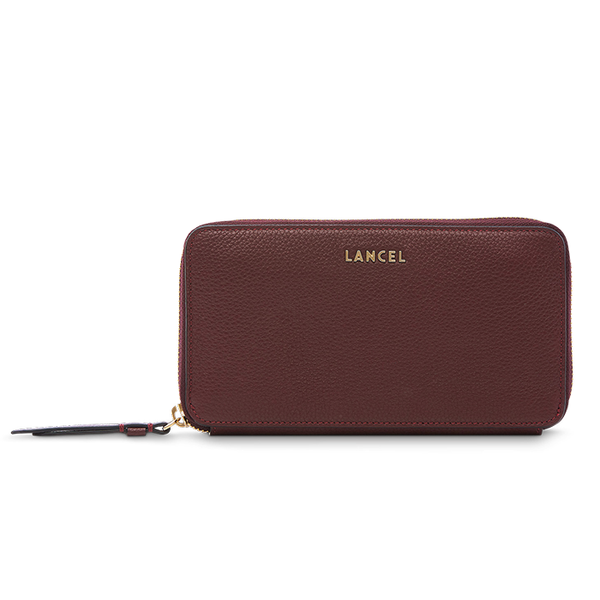 LETTRINES CONTINENTAL ZIP WALLET BLACKCURRANT