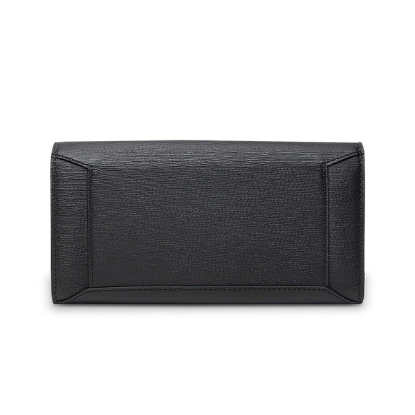 ENVELOPPE FLAP WALLET BLACK