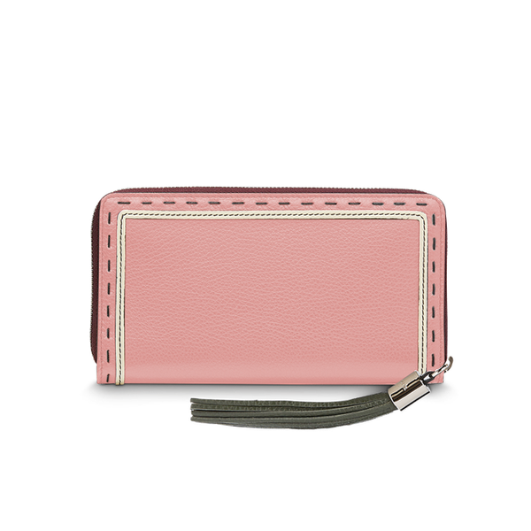 PREMIER FLIRT CONTINENTAL ZIP WALLET MILITARY GREEN / PINK