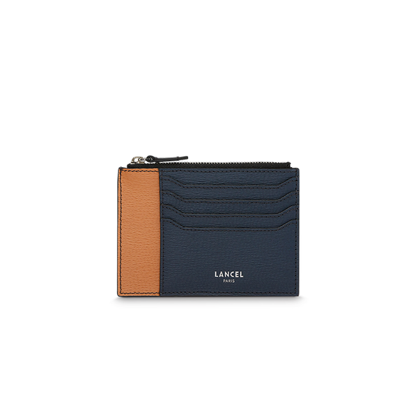 ENVELOPPE CARD HOLDER NAVY / BLACK / CAMEL
