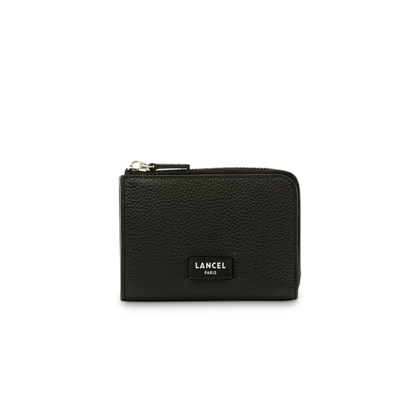 NINON SLIM ZIP WALLET SMALL BLACK
