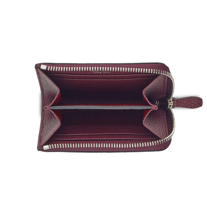 NINON SLIM ZIPPED WALLET SMALL BLACKCURRANT