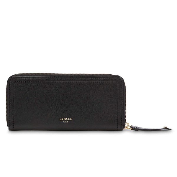 ROMANE SLIM ZIP WALLET BLACK