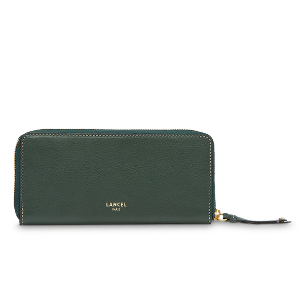 ROMANE SLIM ZIP WALLET MILITARY GREEN