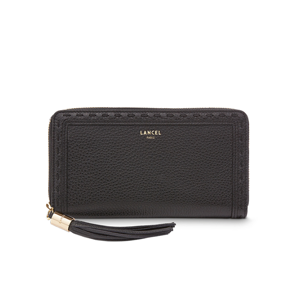 PREMIER FLIRT CONTINENTAL ZIP WALLET BLACK