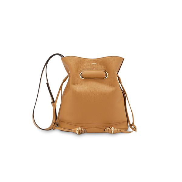 LE HUIT BUCKET BAG SMALL CAMEL