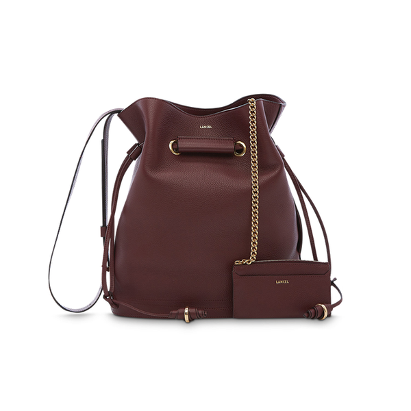 LE HUIT BUCKET BAG LARGE BLACKCURRANT