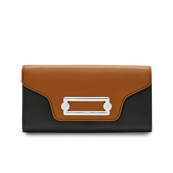 CLIC SLIM FLAP WALLET WOOD / BLACK