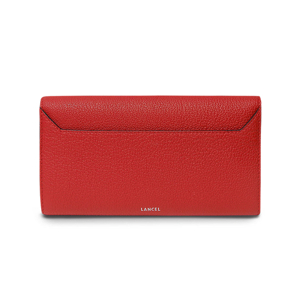 CHARLIE FOLDING CONTINENTAL WALLET RED LANCEL