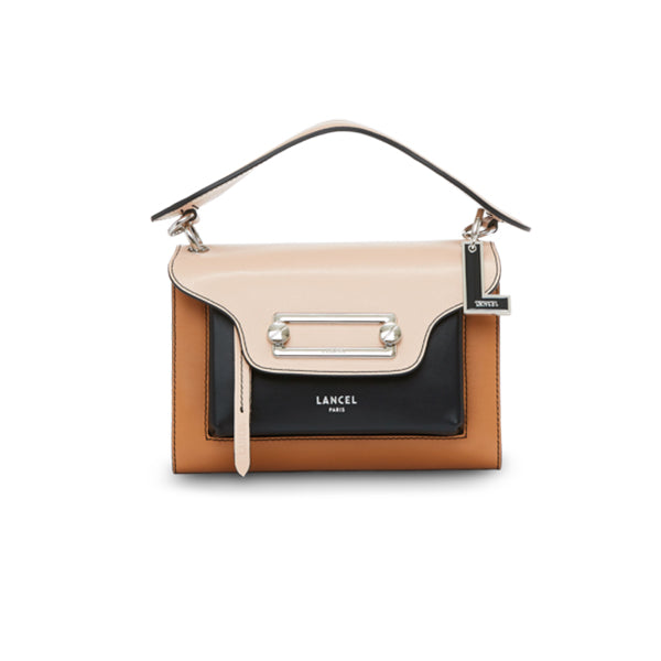CLIC CROSSBODY MEDIUM NUDE / BLACK / CAMEL