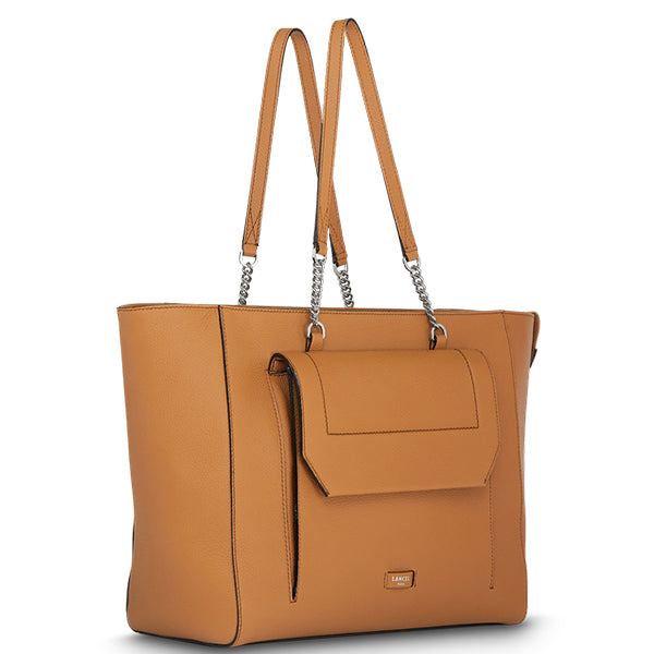 NINON TOTE ZIPPED BAG CAMEL