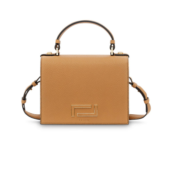 PIA TOP HANDLE BAG CAMEL