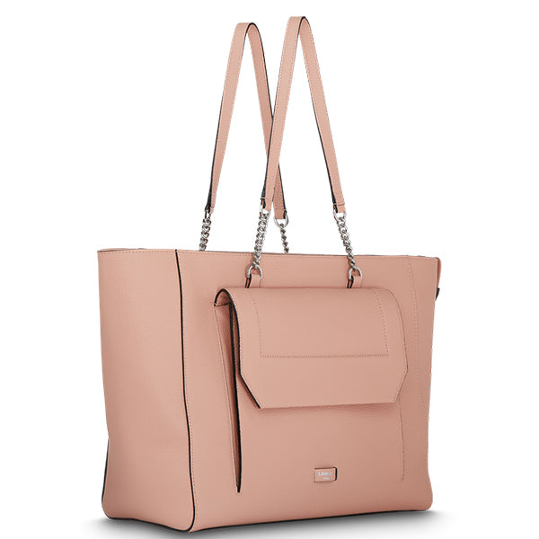 NINON TOTE ZIPPED BAG SUNSET PINK