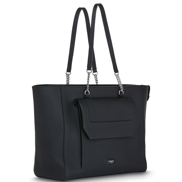NINON TOTE ZIPPED BAG BLACK