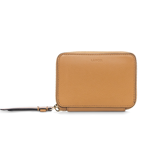 LISON ZIP CONTINENTAL WALLET SMALL CAMEL