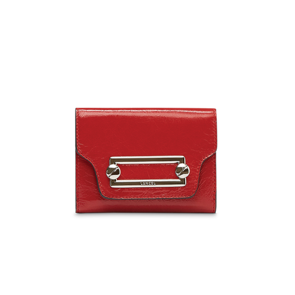 CLIC COMPACT WALLET RED LANCEL