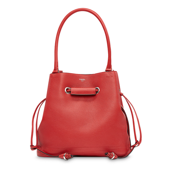 LE HUIT BUCKET TOTE BAG MEDIUM RED