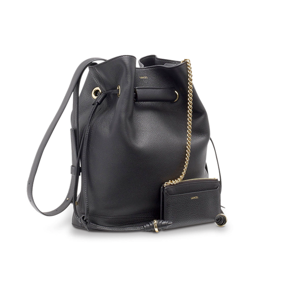 LE HUIT BUCKET BAG LARGE BLACK