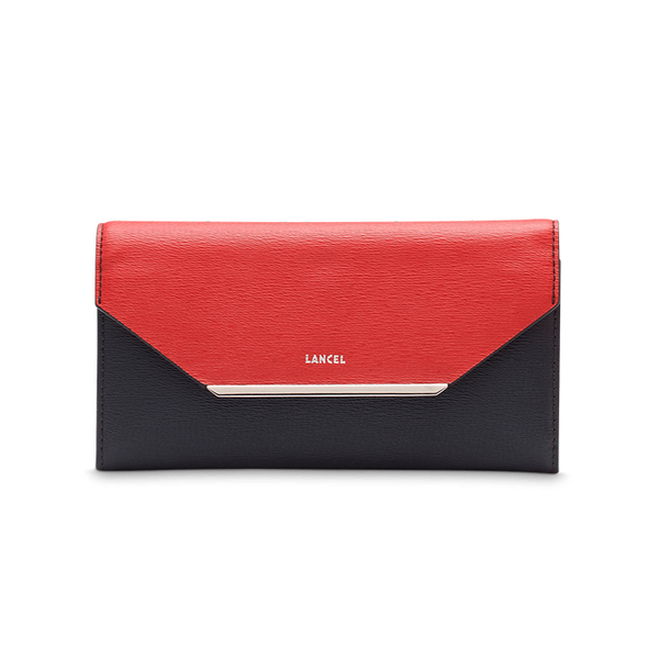 ENVELOPPE FLAP WALLET NAVY / RED