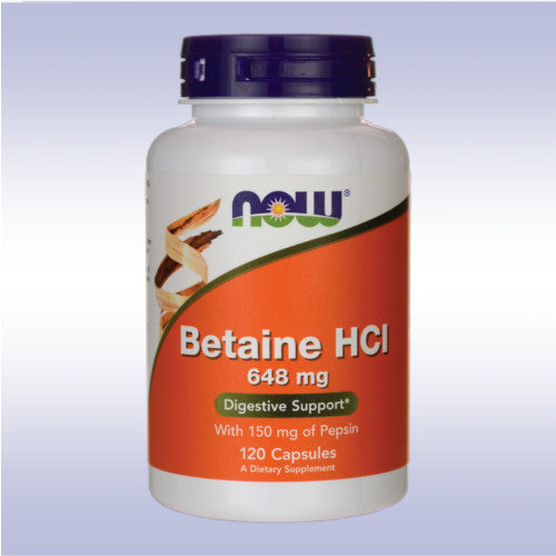 NOW Betaine HCl (648 mg)