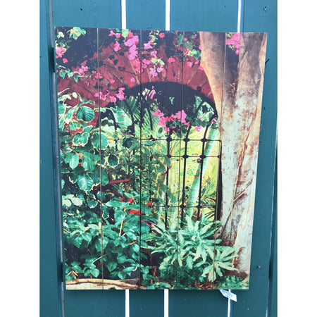 "Spanish Garden Wall Art 28"" x 36"""